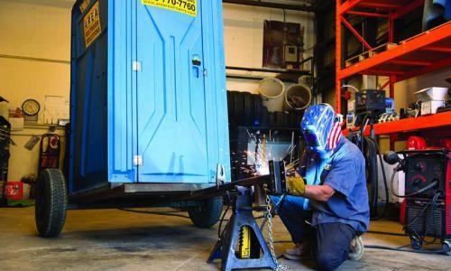 Operator welding rolling units