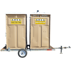 Double Towable Restrooms with Sink