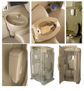 The Layout of High-Tech Flushing with Sink Restrooms